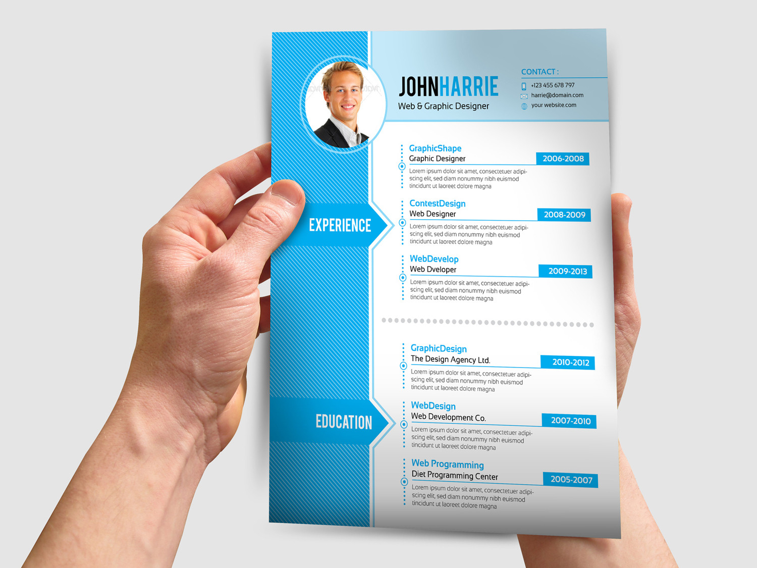 4 pages professional resume cv design by contestd envato studio