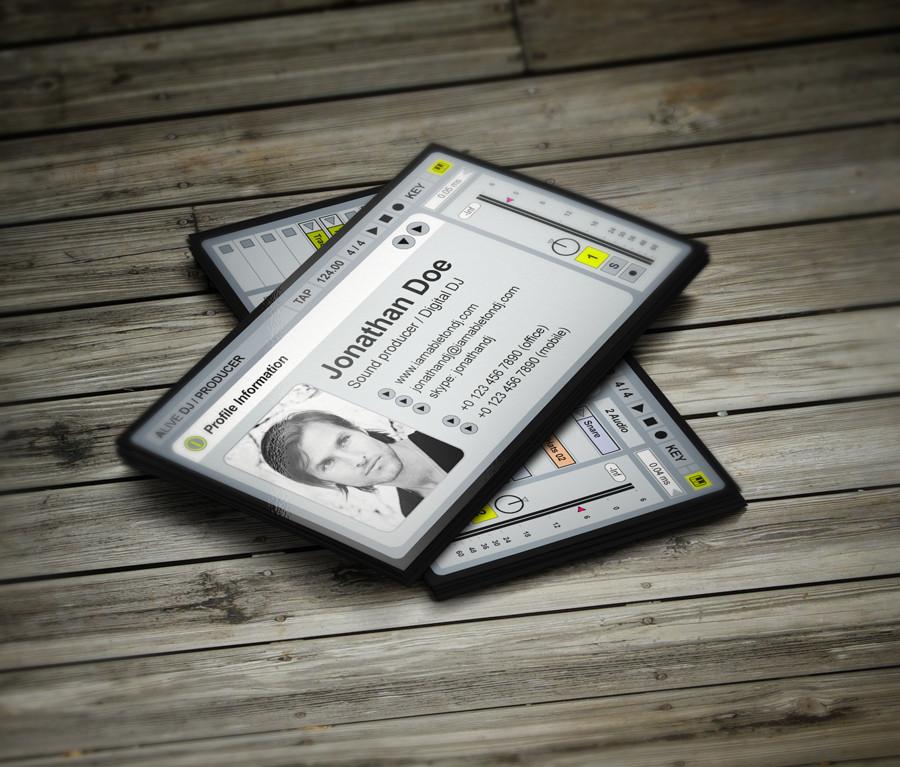 Creative unique dj business cards by vinyljunkie for Creative music business cards