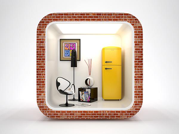 3d realistic ios app icon by saltshaker911 envato studio - 3d interior design apps ...