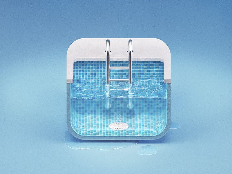 Ios android web app icon design 2d 3d by zomo for Pool design app