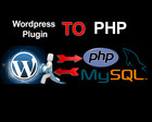 Convert PHP scripts to Wordpress plugins or Widgets by nyasro - 32215