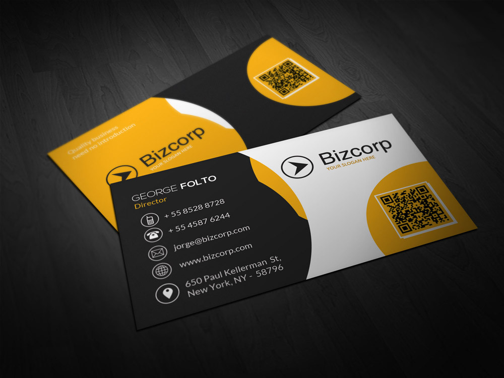 Double Sided Professional Business Card Design by on