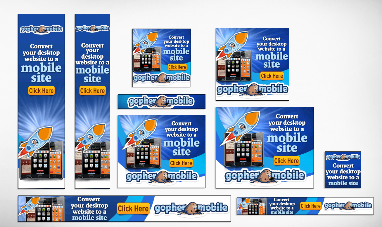 Custom Banner Set For Google Adwords 15 Sizes By