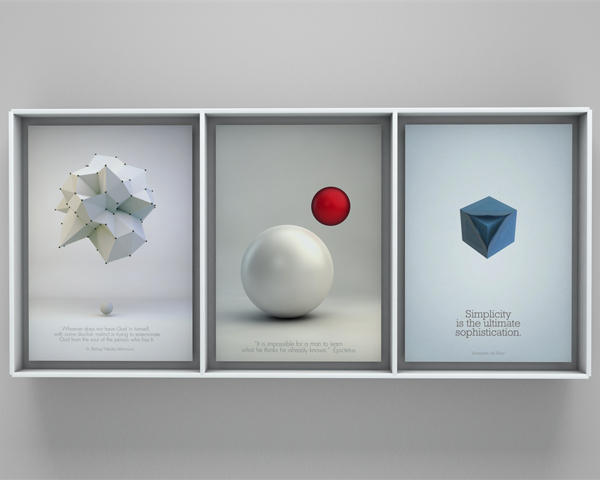 clean poster design with 3d elements by tomic on envato studio