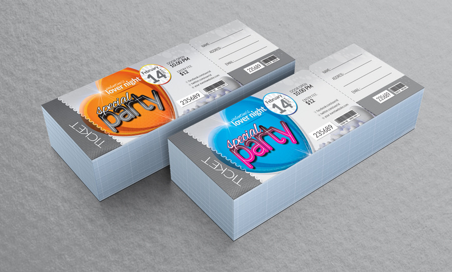 Event Passes Design images – How to Design a Ticket for an Event