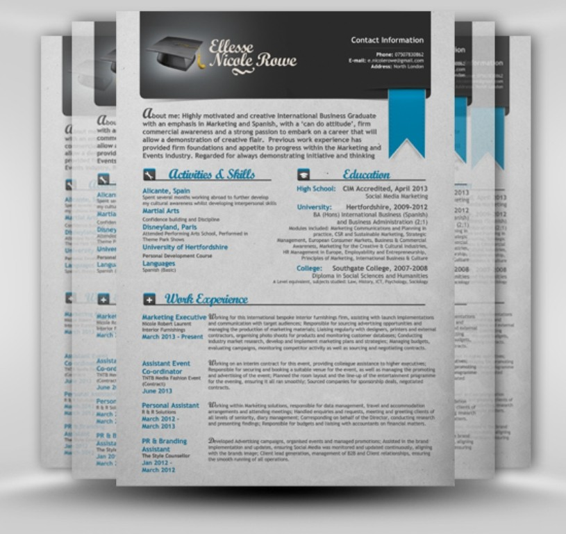 updating resume or brochure with your content by gi