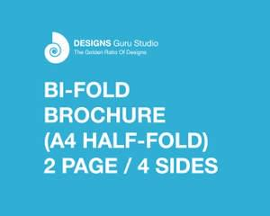 bi fold brochure design by designsgurustudio on envato studio