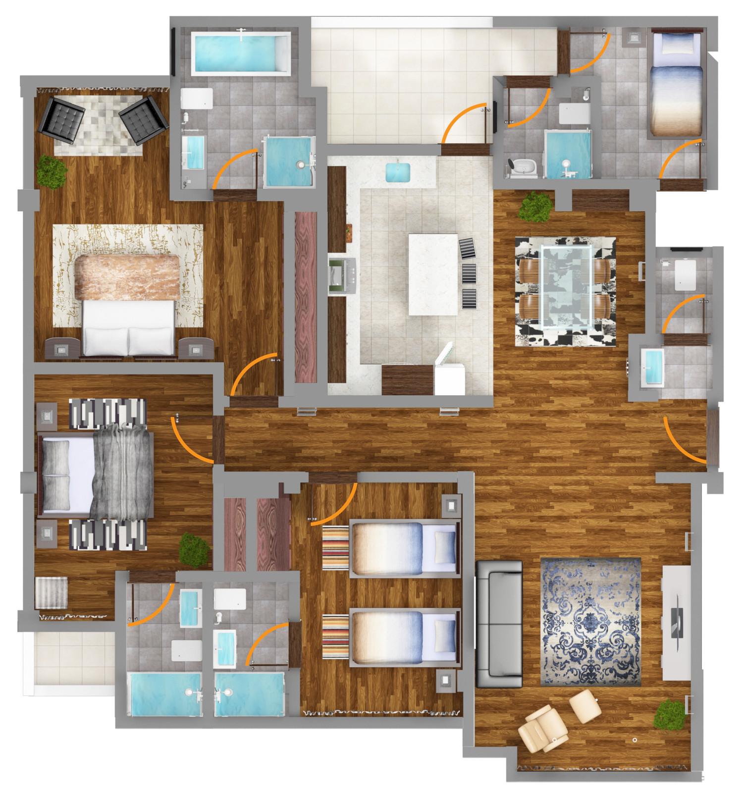 3d floor plan rendering by gesora envato studio for 3d floor plan rendering