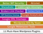 Configuration of 11 Must-Have Wordpress Plugins by hasanet - 65749