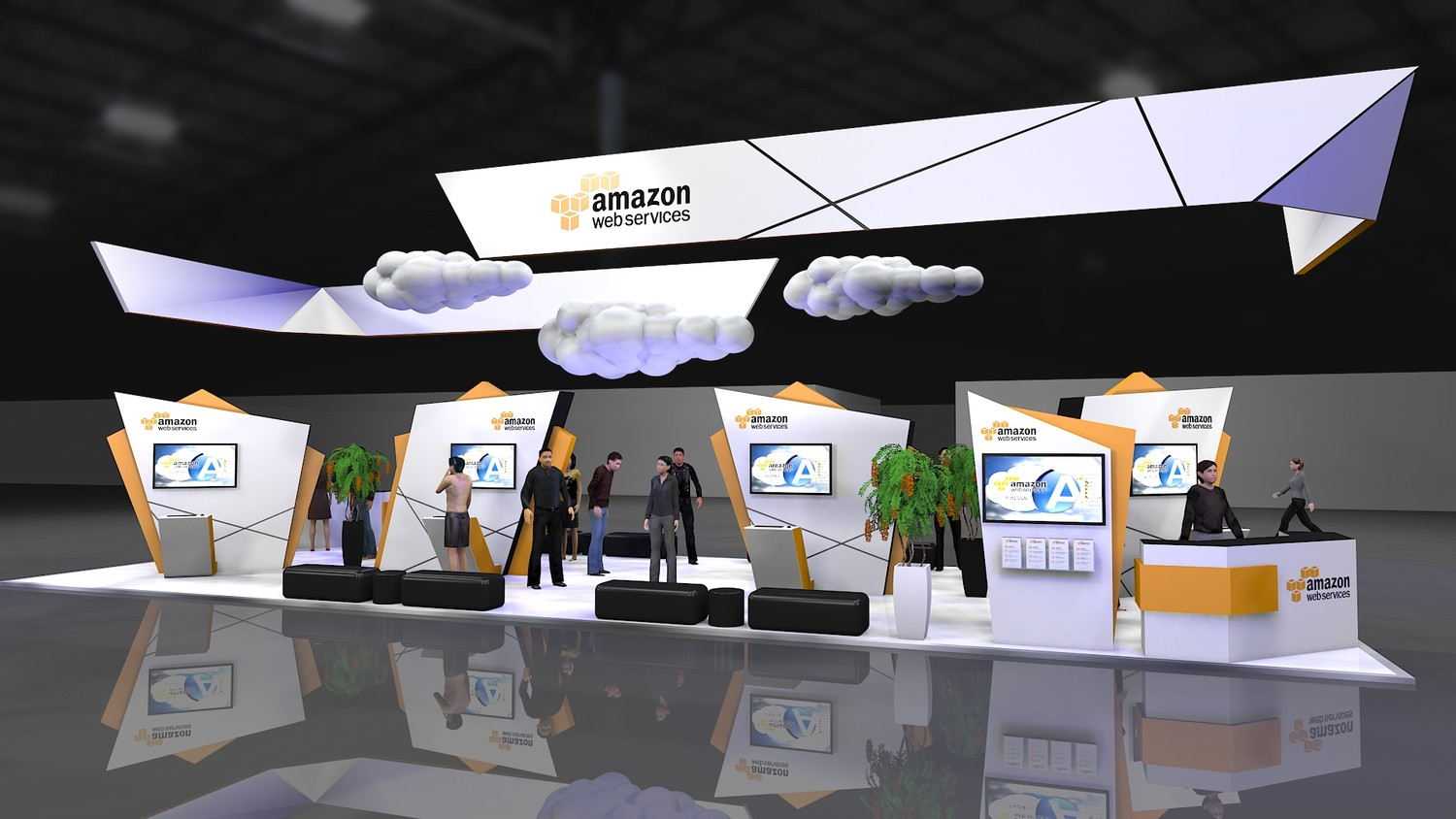 Exhibition Booth Animation : D walkthrough animation for exhibition booths by a