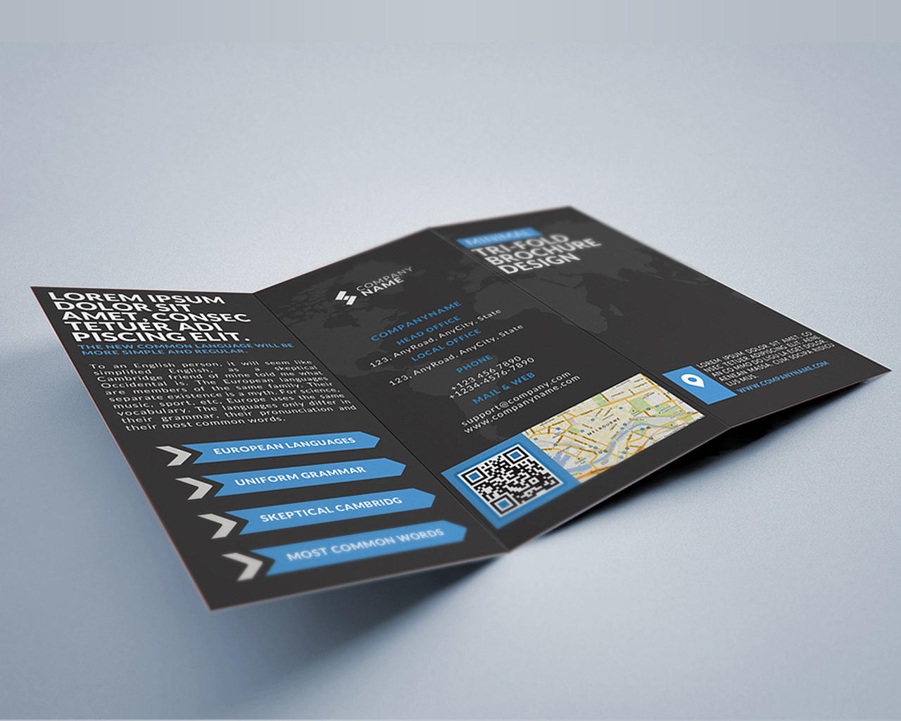 brochure templates envato - trifold brochure design by creativesource online on envato