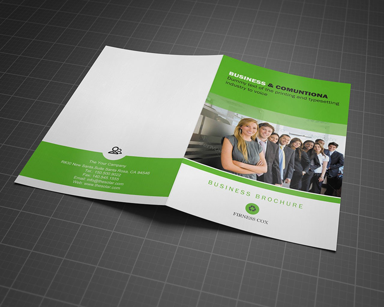 Bi fold brochure customization design 4 page by for Two page brochure template