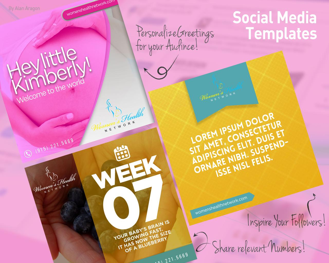 Psd social media templates by alanthedesigner on envato studio for Social media templates psd