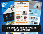 E-Newsletter Template Design by WonderArt - 48182