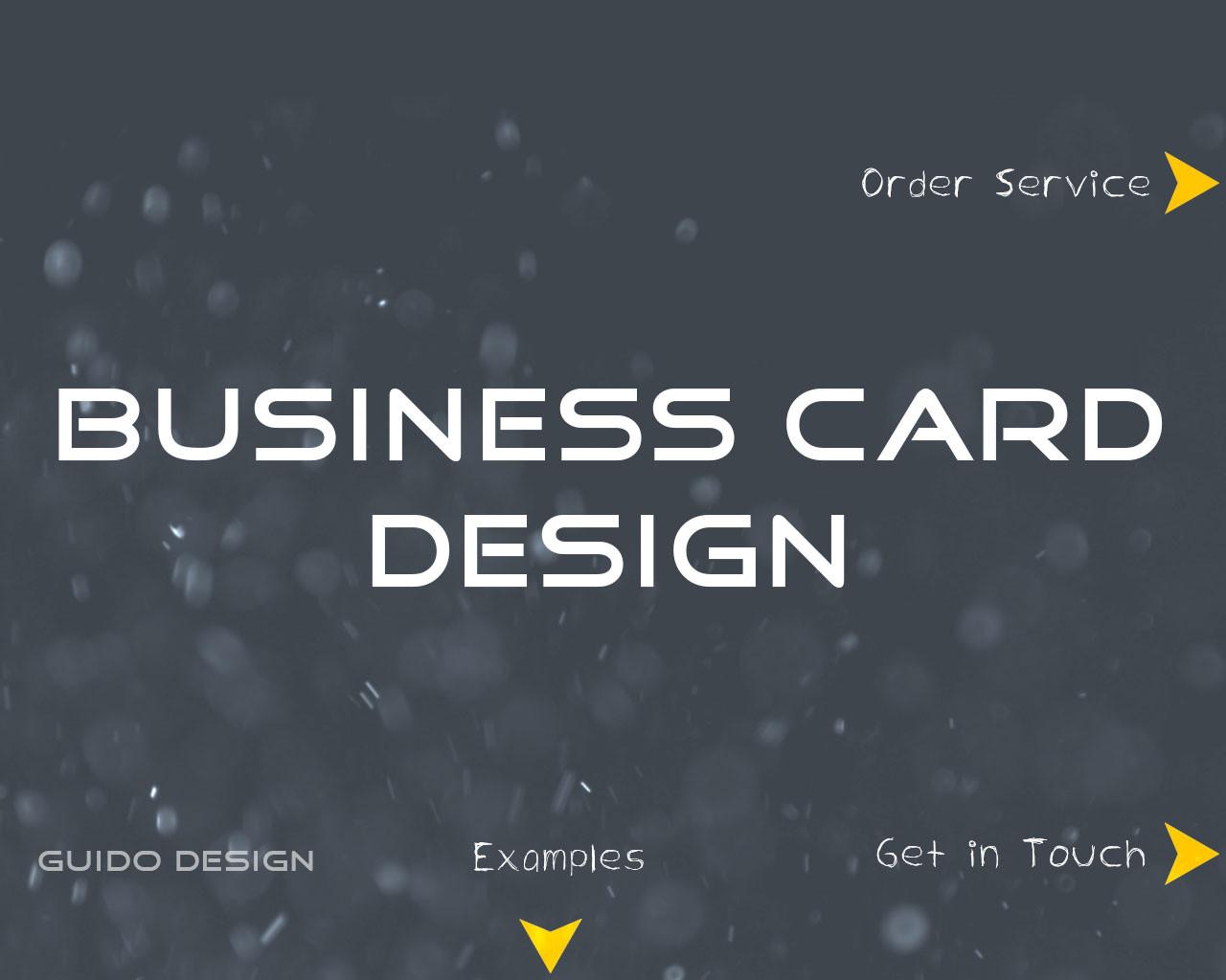Create impressive business card design by guidodesign for Impressive business cards