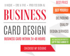 Business Card Design (Double Sided) by bobsagun - 64886
