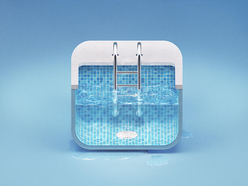 Ios android web app icon design 2d 3d by zomorsky on for Pool design app