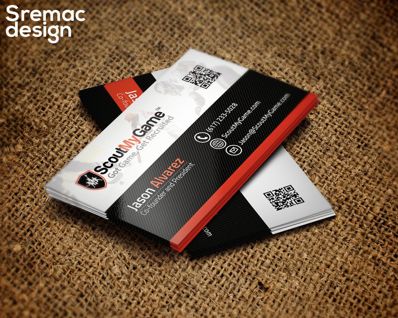Business Card Design Standard Size
