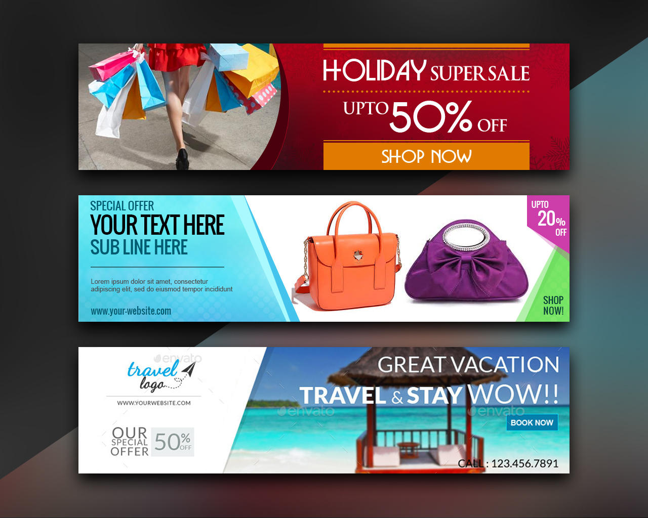 web banner and ad banner design by x cut on envato studio