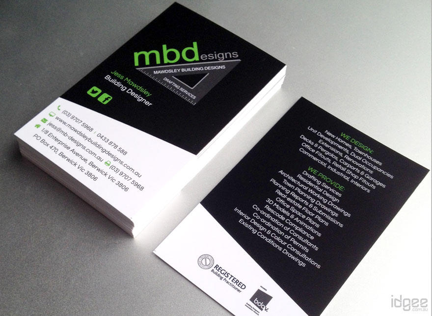 high quality  unique double sided business card design by