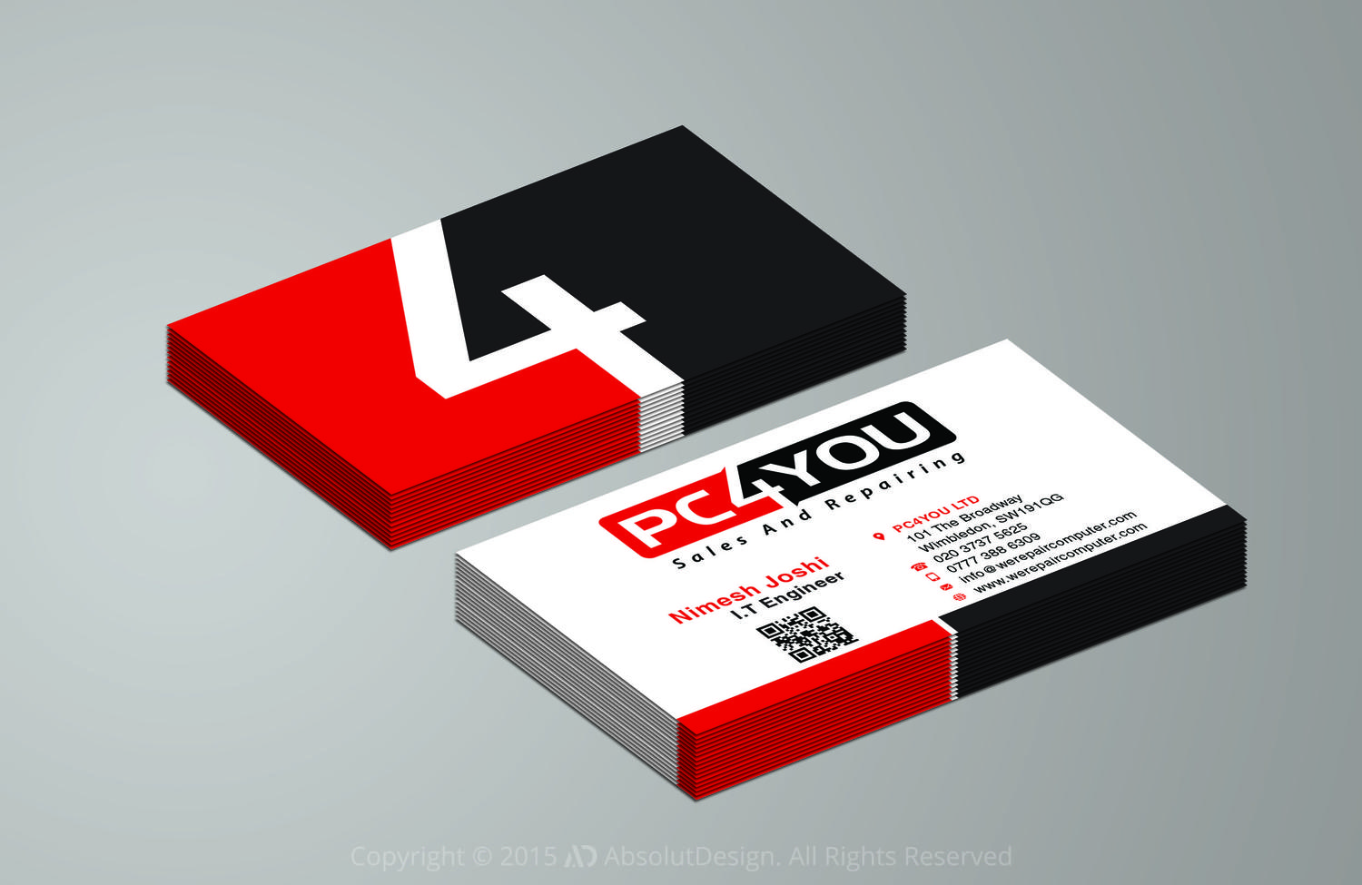 Double Sided Business Card Design By Absolutdesign On