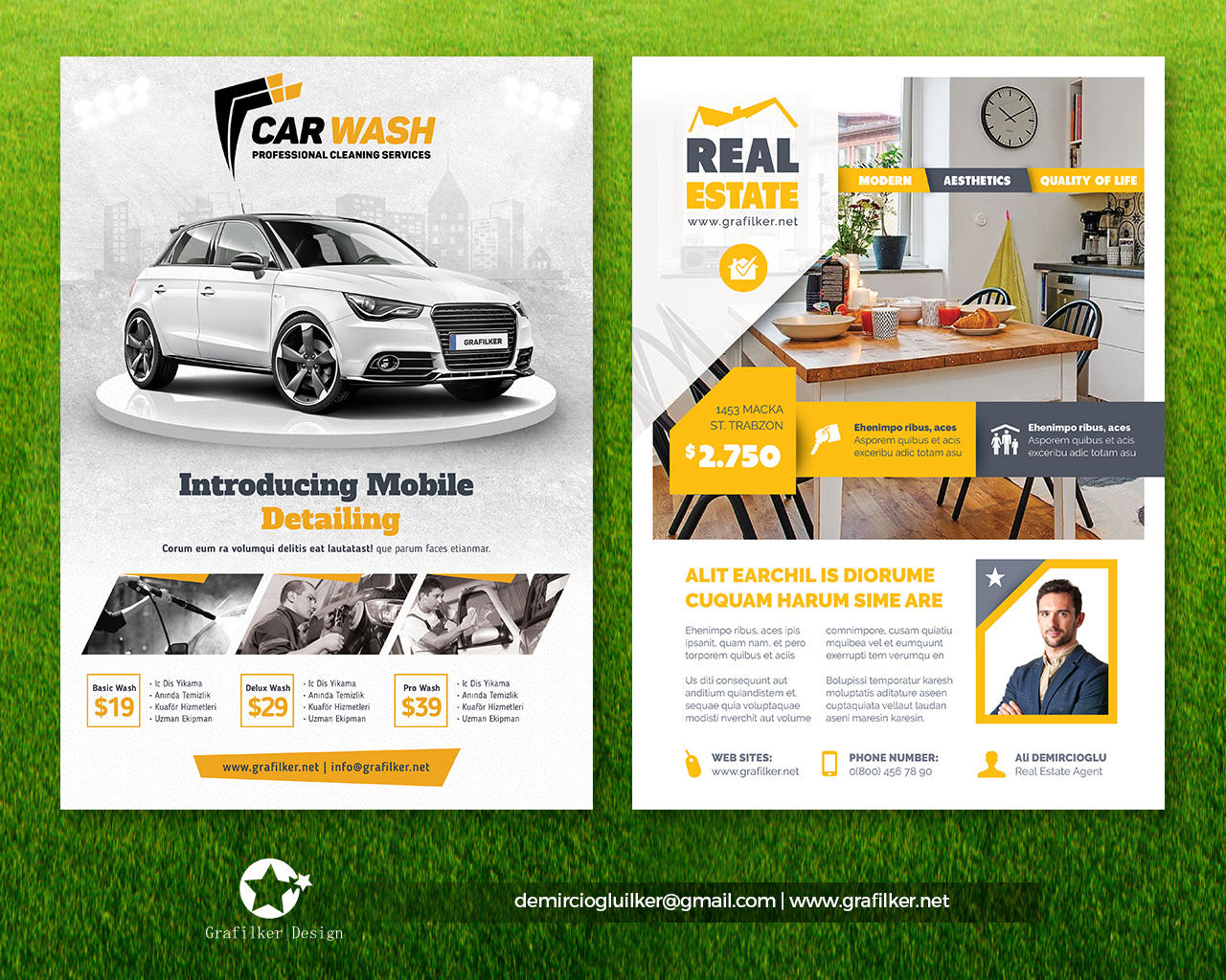 Professional Flyer Templates By Grafilker On Envato Studio