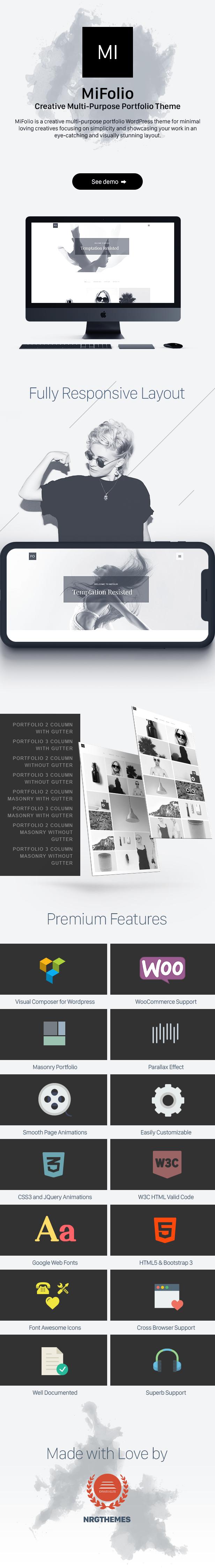 MiFolio - Creative Multi-Purpose Portfolio Theme