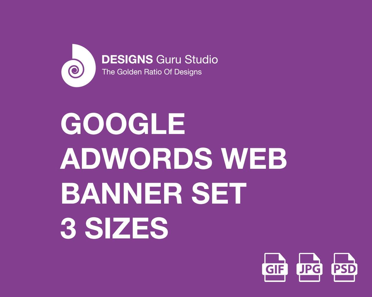 Google AdWords Web Banner Set - 3 Sizes (GIF/JPG) by designsgurustudio - 115379