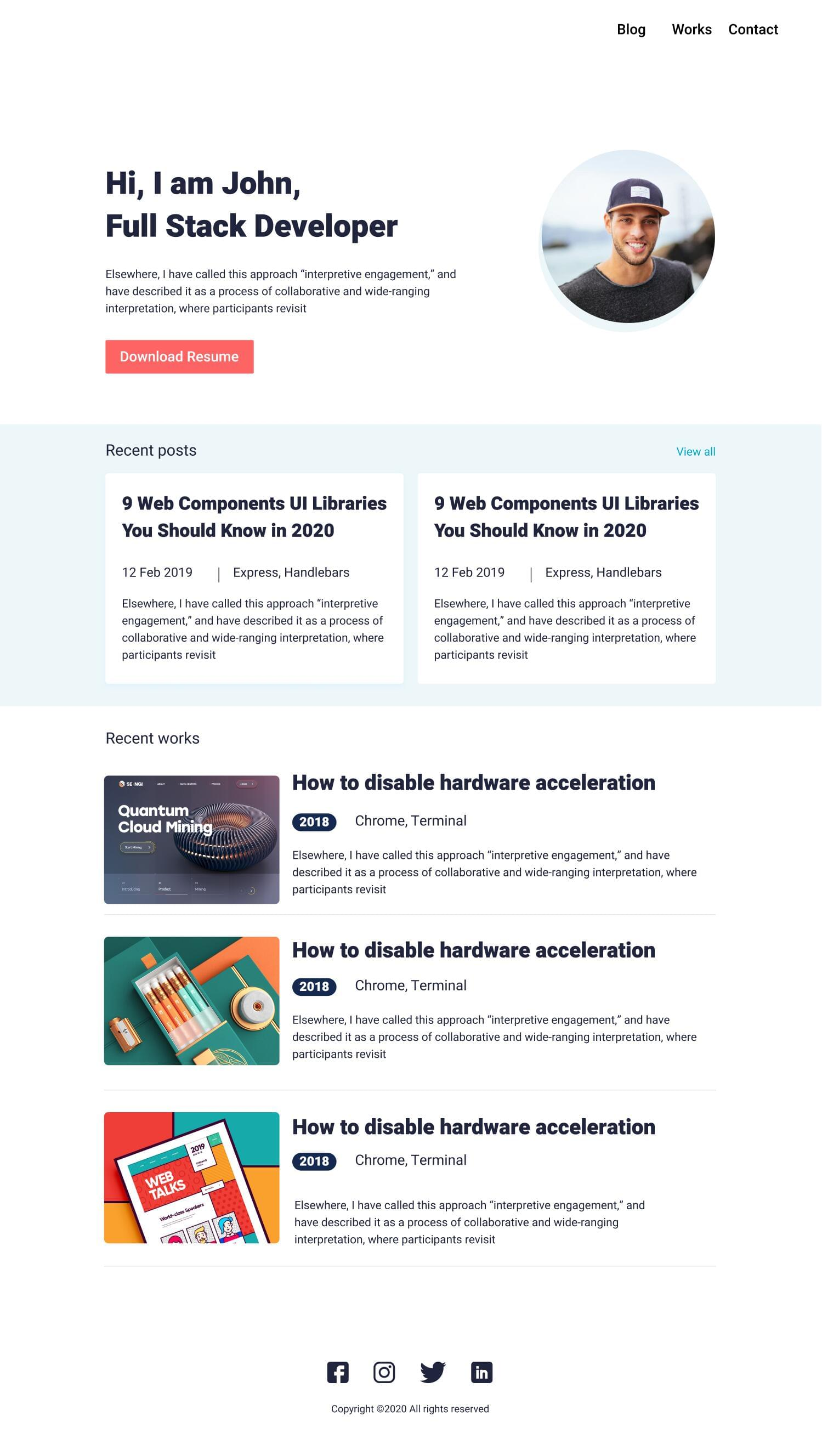 Responsive Blog or Portfolio Website using Gatsby with Contentful CMS or Prismic  by tinjothomasc - 117660