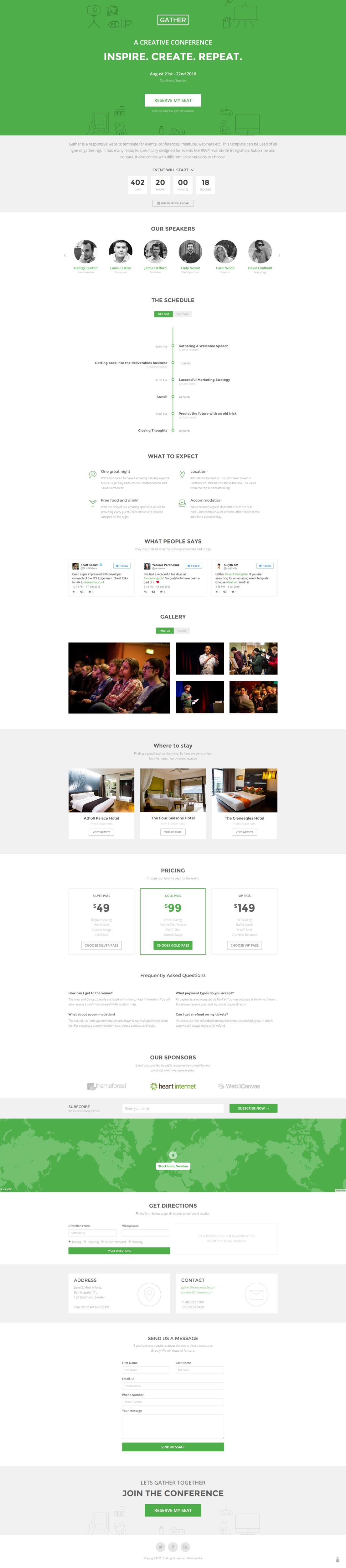 Landing Page PSD to HTML Conversion (Responsive, HTML5)  by surjithctly - 84714