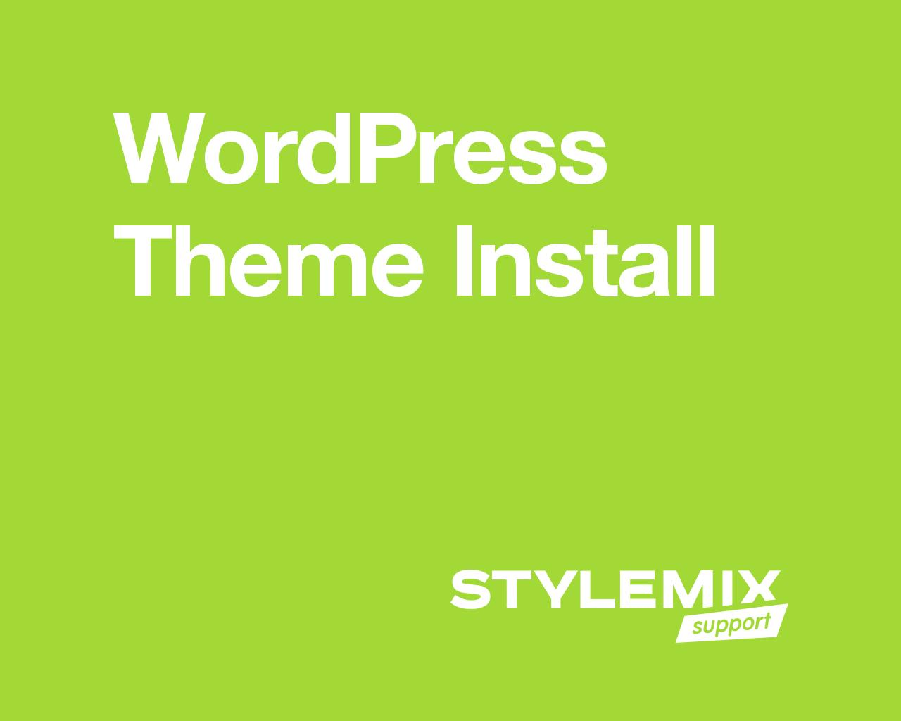 WordPress Theme Install by StylemixThemes - 80273