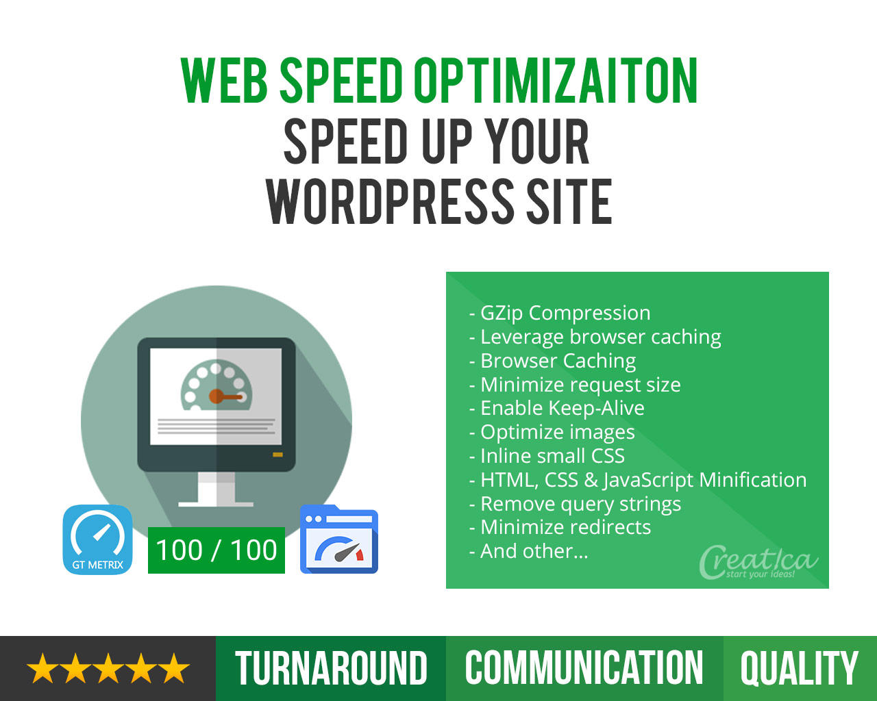 Web Speed Optimisation - Speed Up Your Wordpress Site by CreaticaStudio - 109333
