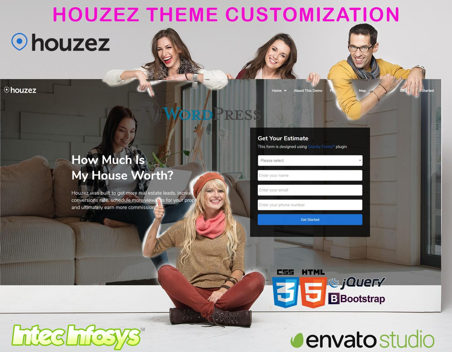 Customize Houzez or Homey Theme as per Your Requirements by intecinfosys - 114408
