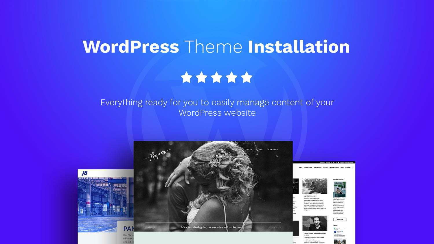 WordPress Theme Installation (+ Demo and Content Setup) by OliverMarcetic - 111941