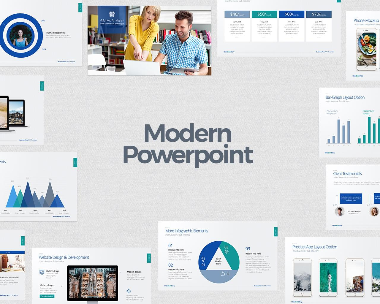Modern PowerPoint Designs by DesignDistrict - 114756