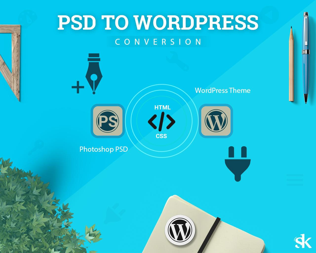 PSD To WordPress Conversion by SK-Web-Solutions - 112975