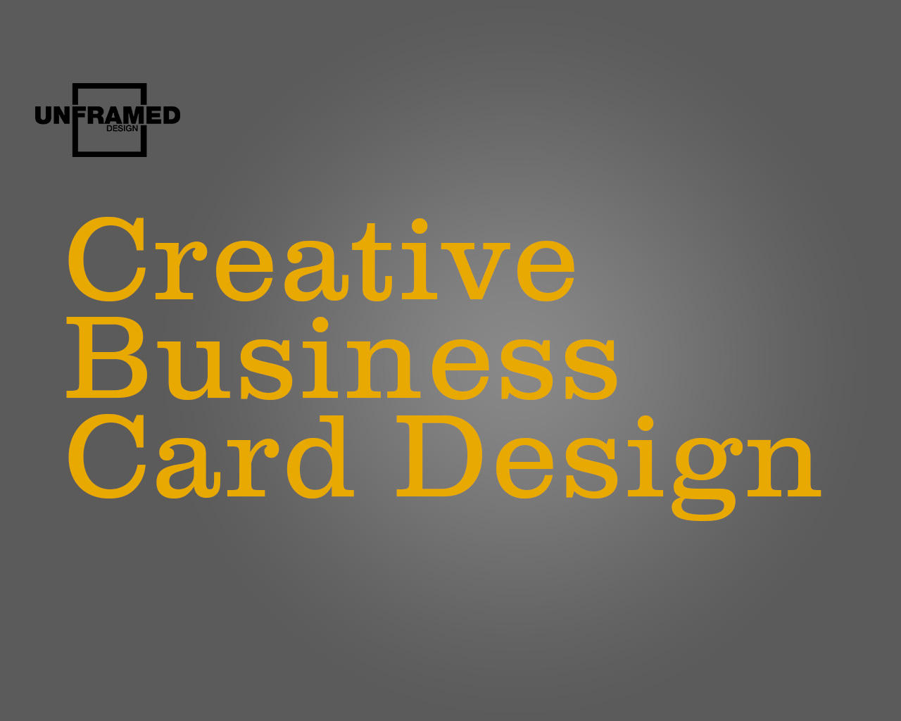 Creative Business Card Design by Unframed_Design - 67573