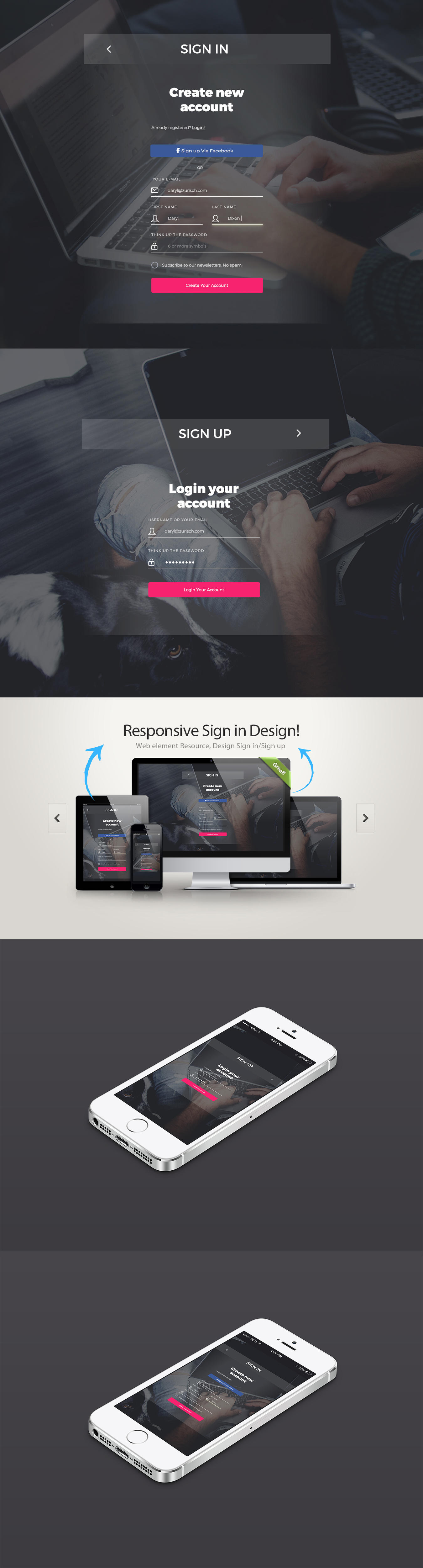 sign-signup design