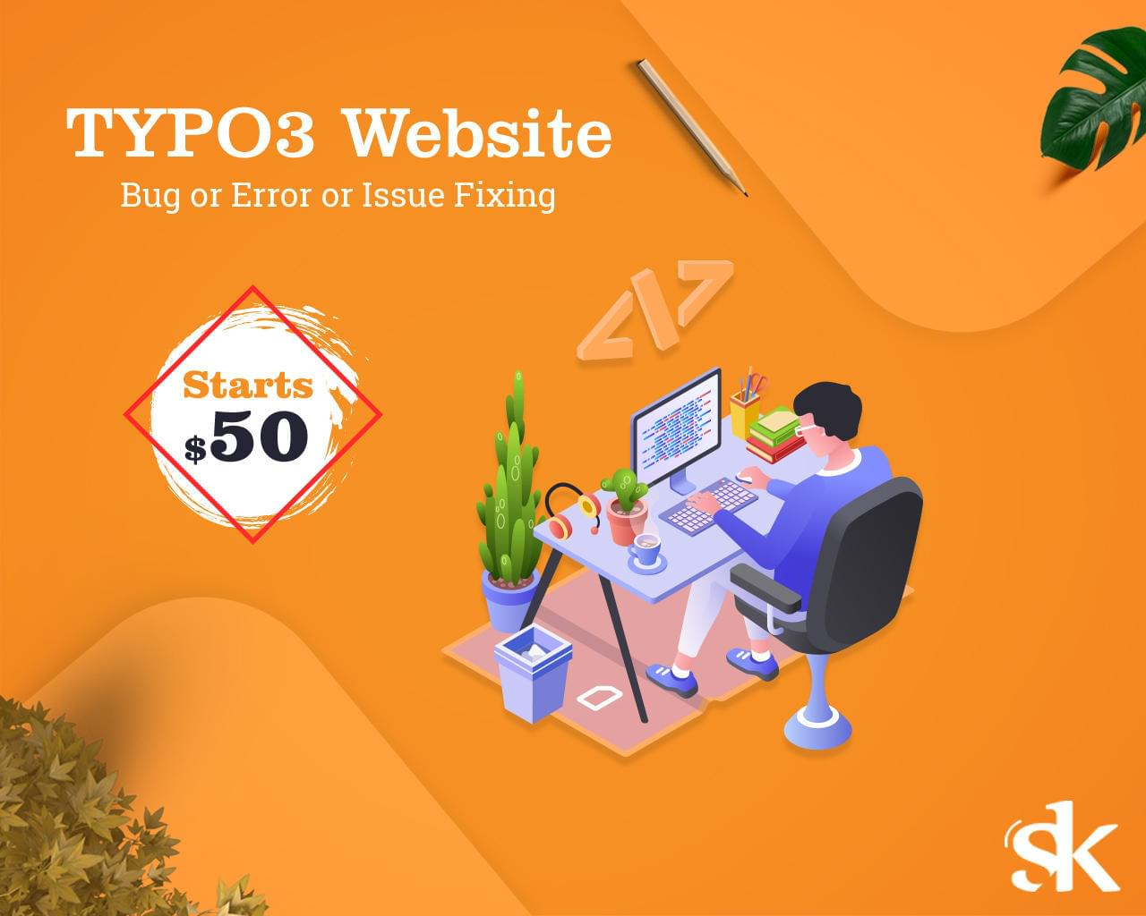 TYPO3 Website Bug or Error or Issue Fixing by SK-Web-Solutions - 115831