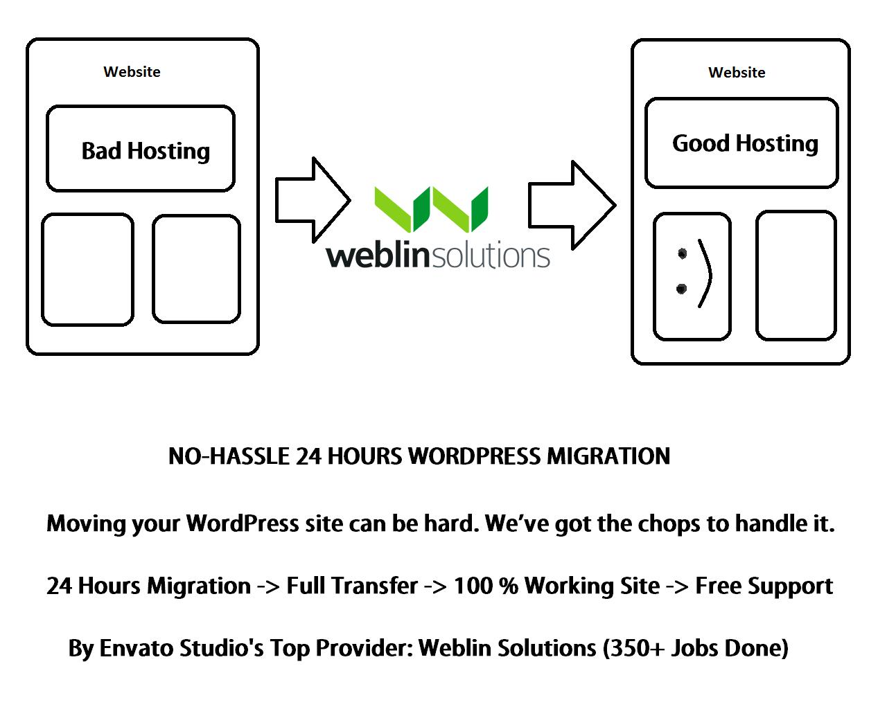 No-Hassle WordPress Website Migration by weblinsolutions - 81246