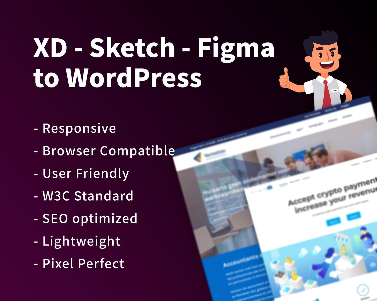 XD / Sketch / Figma to WordPress Conversion by hasanet - 118739