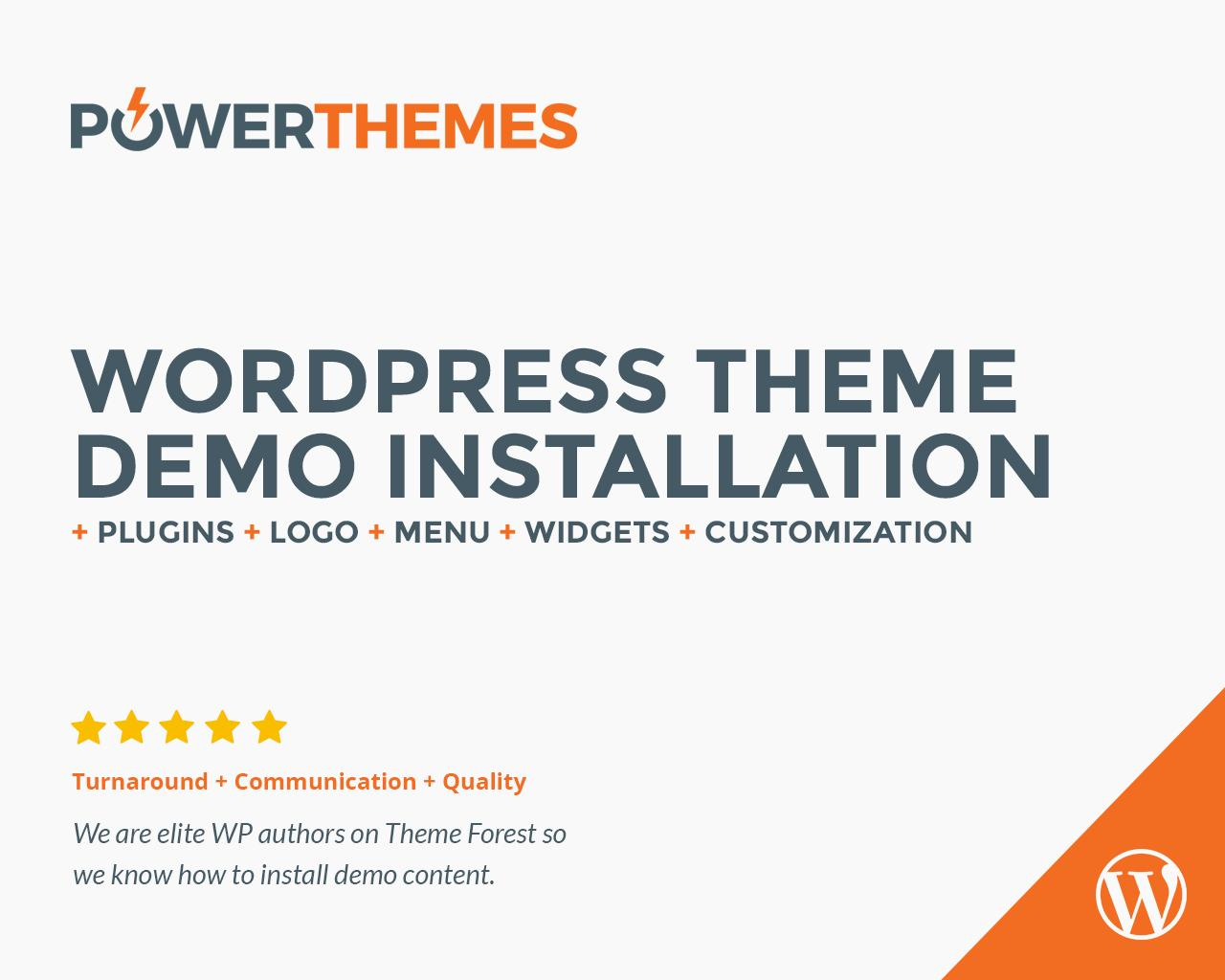 Wordpress Theme Demo Content & Plugins Installation by pebas - 78592