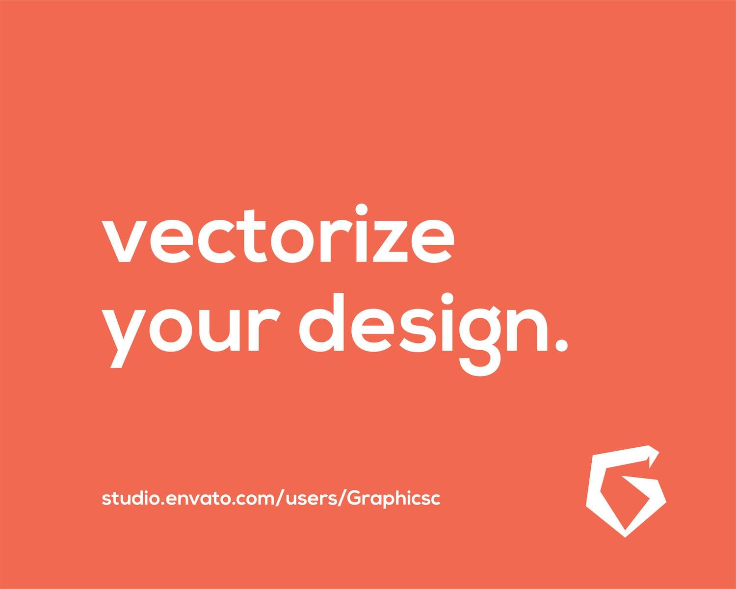 Convert Your Logo or drawing into vector  by Graphicsc - 112419