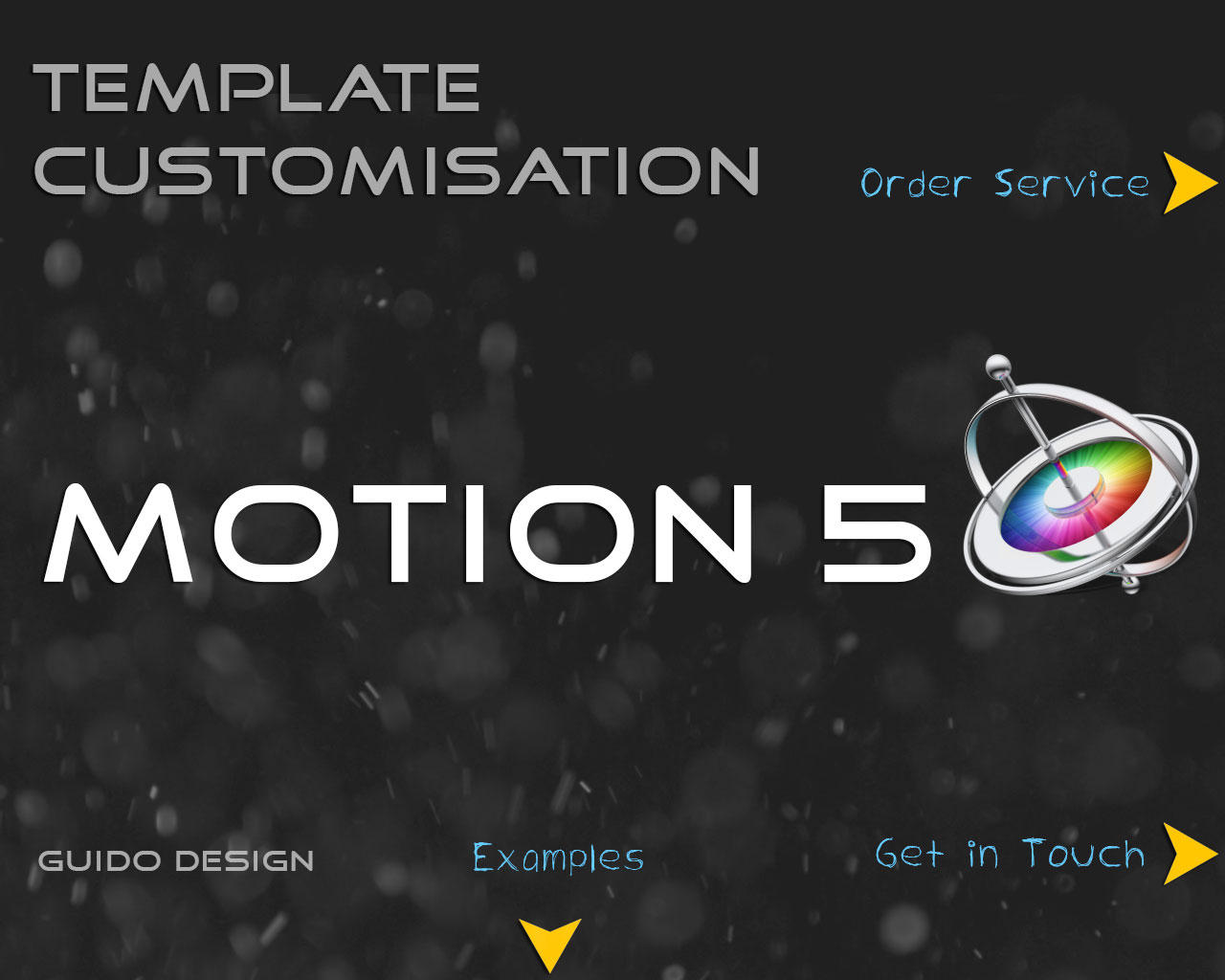 Professional Apple Motion 5 Customization Template by GuidoDesign - 64202