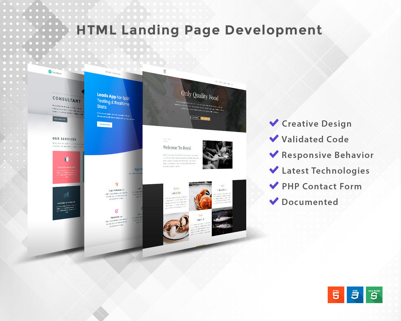 HTML Landing Page Development by marcoarib - 110771