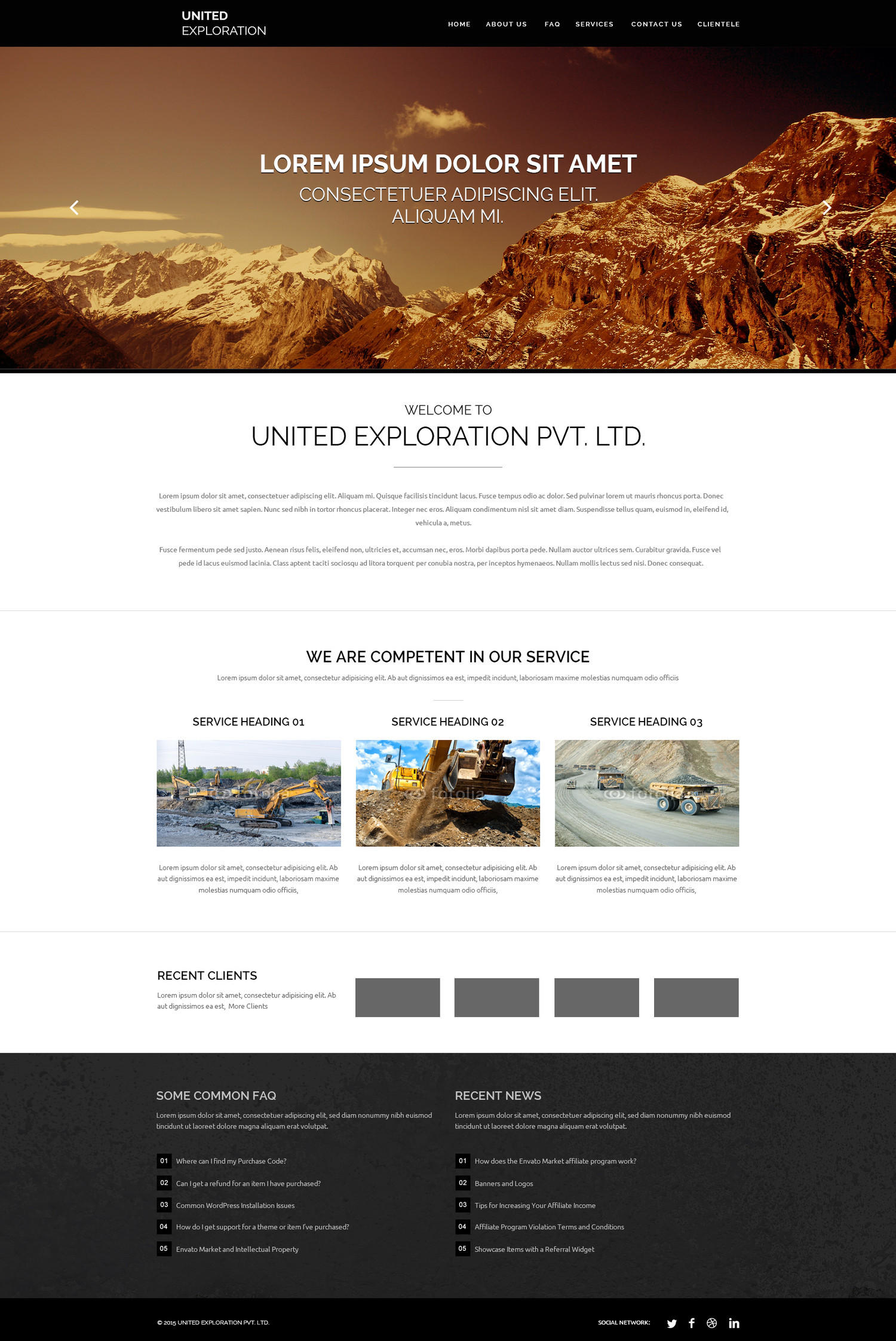PSD Website Home Page Design by kreativenet - 99238