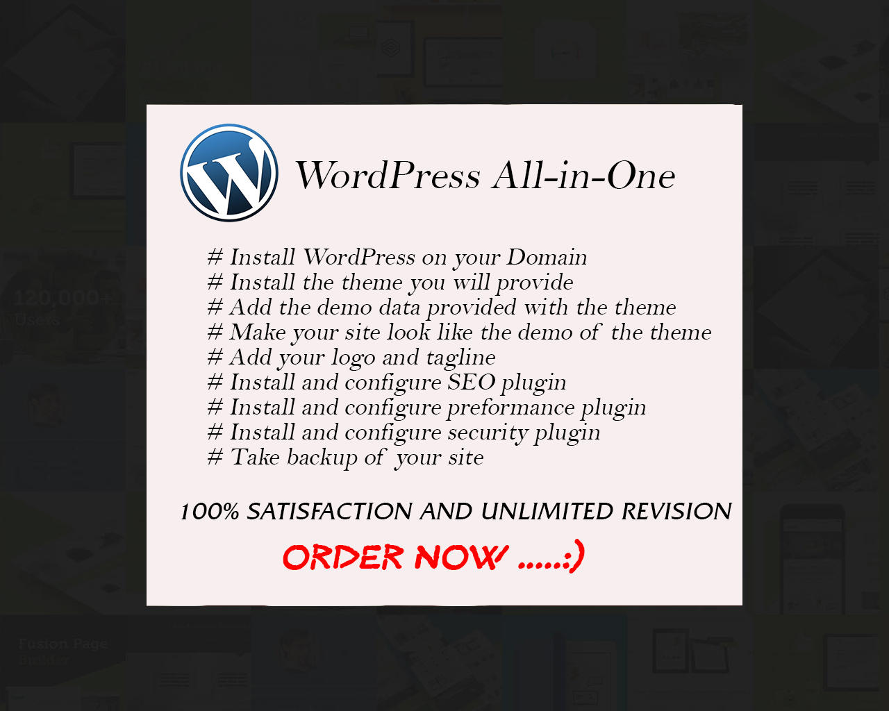 All-In-One WordPress Theme Installation With Demo Data & Plugins by moshiur008 - 101269
