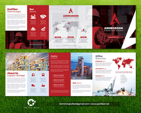 Brochure Design A4 - 8 Pages and Book Design A5 - 48 pages (text