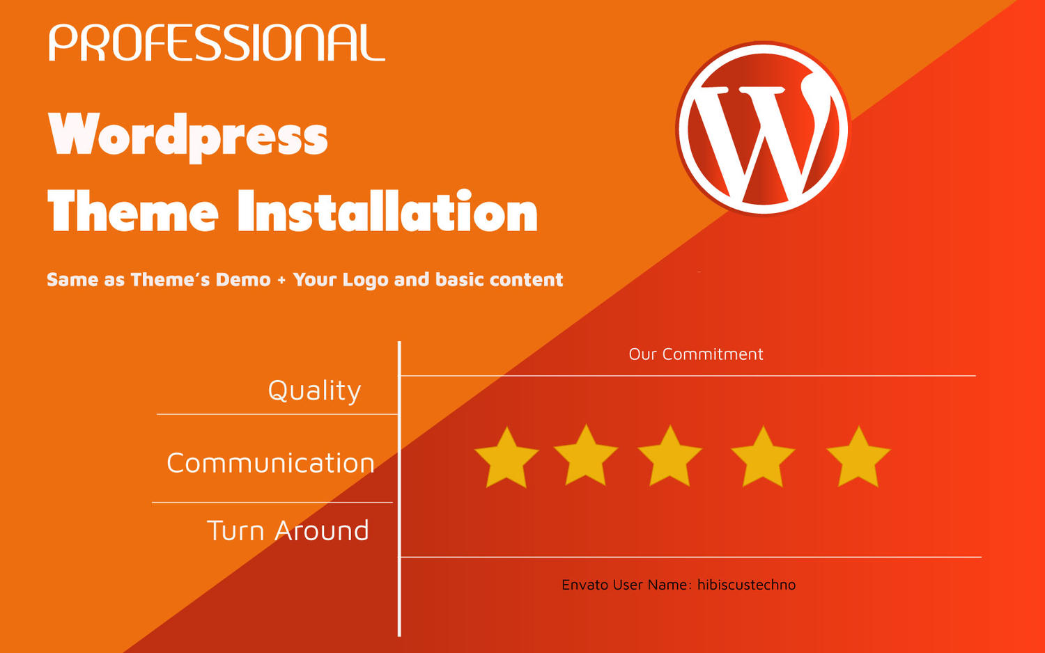 Wordpress Theme Installation  by hibiscustechno - 110415