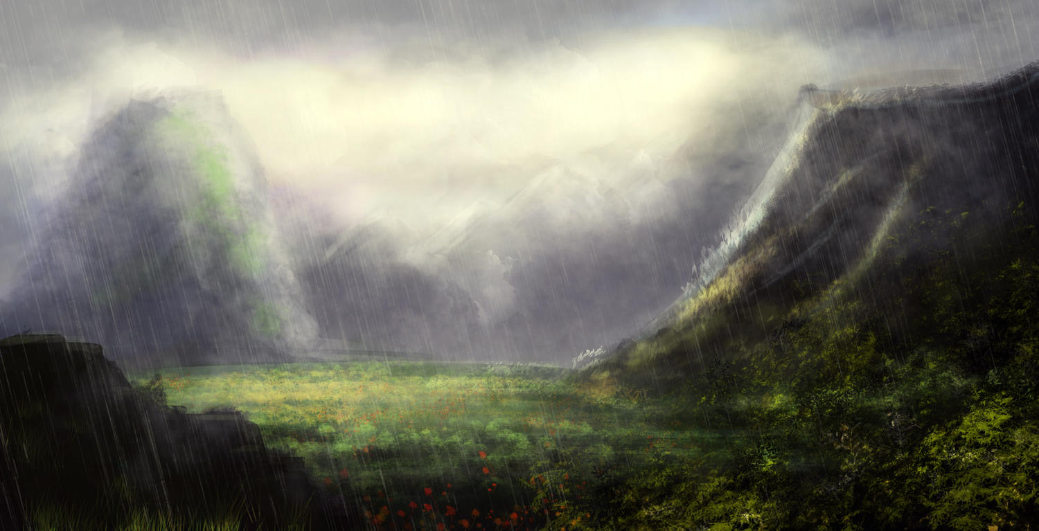 Digital Painting - Environments - Concept Art - Landscapes - Settings by CrArt - 82196